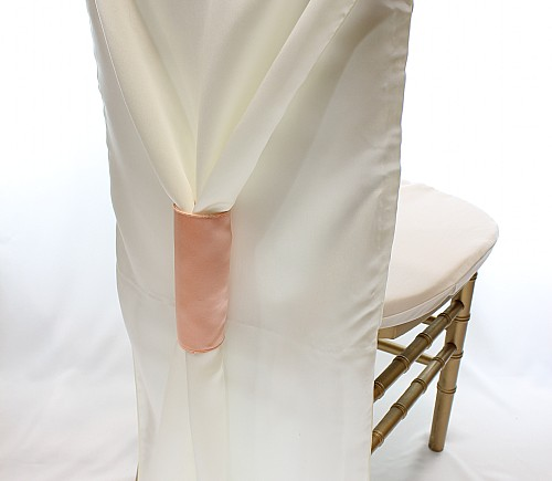 Ivory Lamour Chiavari Bishop Tuxedo Chair Back