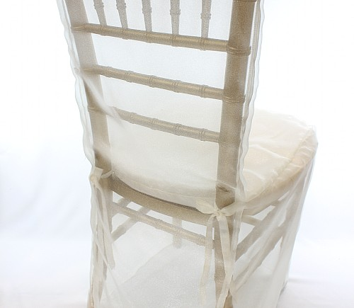 Ivory Organza Full Chair Cover