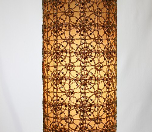 Gold Rajistan Tall Cylinder Shade
