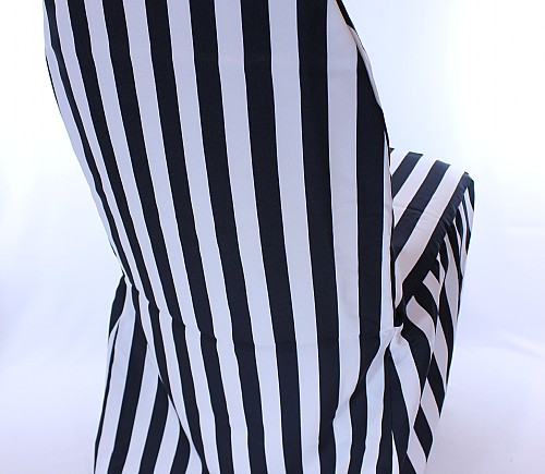 Black & White Cabana Stripe Hotel Chair Cover