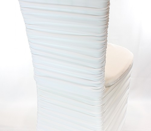 White Rouched Chiavari Chair Cover (2 pieces)