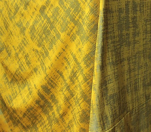 Ochre Distressed Velvet