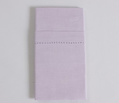 Lavender Hemstitch Dinner Napkin