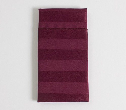 Burgundy Satin Stripe Dinner Napkin