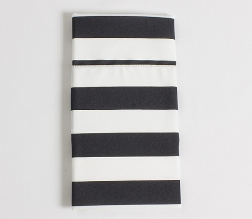 Black & White Cabana Stripe Dinner Napkin