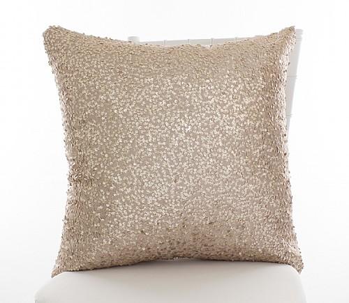 Blush Sequined Taffeta Pillowcases