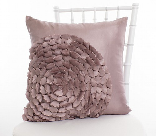 Blush Spiral Flower Pillowcases (Limited Quantity)