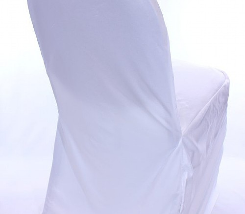 White Polyester XL Chair Cover