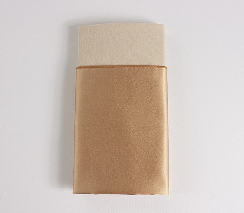 Toffee Candy Lamour Dinner Napkin with Beige Cotton Backing