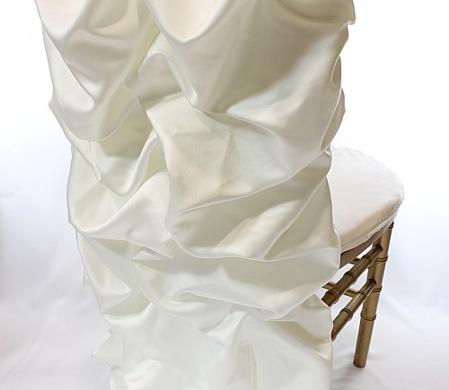 Ivory Lamour Puffy Barrel Chair Back - SPECIAL ORDER